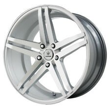 Staggered Verde Parallax F:19X8.5,R:19X9.5 5x114.3 +15mm Silver Wheels Rims