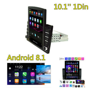 16GB 10.1'' 1DIN Android 8.1 Car Quad Core Stereo Radio HD MP5 Player GPS WIFI
