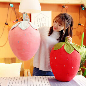 Red Strawberry Pillow Funny Fruit Pillow Stuffed Plush Sofa Home Decoration Gift