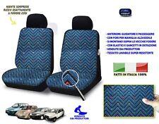 Coprisedili Fiat seicento 600 fodere su misura copri sedili set Grigio Nero Blu
