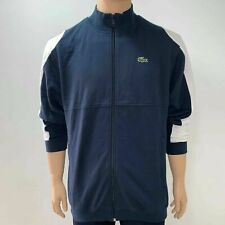 Lacoste Mens Sport Tennis Jacket Full Zip Sweatshirt 2XL Fr 7 Navy Blue White