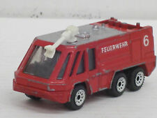 Löschwagen Feuerwehr Nr.6 in rot, Siku, ohne OVP, Länge 7,5 cm
