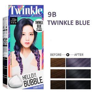 [MISE EN SCENE] Hello Bubble Foamy Creamy Bubble Hair Dye Color 9B TWINKLE BLUE