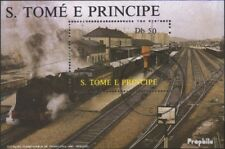 Sao Tome e Principe block174 (complete issue) used 1987 Locomot