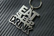 EAT SLEEP DRINK JDM MANGA GTI R32 GT 3 2 Keyring Keychain Key Fob Steel Gift