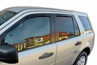 LAND ROVER FREELANDER mk2 5 door 2007-2016  wind deflectors 4pc TINTED HEKO