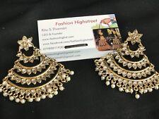 INDIAN/ PAKISTANI Jhoomar Gold & Kundan Long earrings, danglers, jhumka, eardrop
