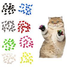 20pcs Silicone Cat Nail Cap Cat Paw Claw Pet Nail Protector Cat Nail Cover Nett