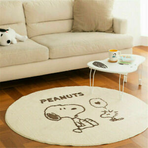 New Snoopy Round Area Rugs Bedroom Carpets Non-slip Home Living Room Floor Mats