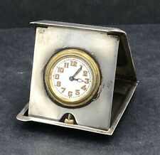 More details for sterling silver travelling watch / clock case birmingham 1923