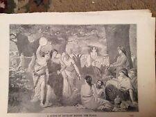 u1-3 ephemera 1890 religious book plate revelry before the flood
