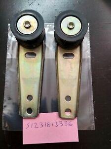 BMW E12 engine hood roller guides(2) !!NEW!! GENUINE NLA 51231813336