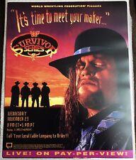 WWE WWF Vintage Suvivor Series 1994 Poster 16x20 Undertaker