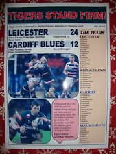Leicester 24 Cardiff Blues 12  - 2018 Anglo Welsh Cup - souvenir print