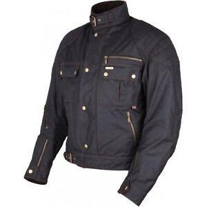 Modeka Laxey Wachsjacke L kurz schwarz Motorradjacke Wax Cotton Motorrad Jacke