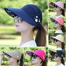 Damen Schirmmütze Kopftuch Bandana Sommerhut Sonnenschutz Sonnenhut Damenhut Hut