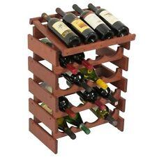 Wooden Mallet 20 Bottle Dakota Wine Rack with Display Top Mahogany NEW