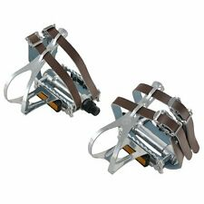 VP COMPONENTS VP-365T Classic Road Touring pedals w/ Toe Clips & Leather Straps