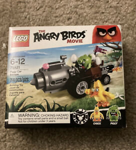 LEGO 75821 Angry Birds Movie PIGGY CAR EESCAPE 74pc **Factory Sealed & RETIRED**