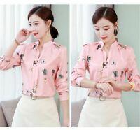 Shirt Lady Girl's Summer Casual Korean Elegant Blouses Chiffon Loose Ladies