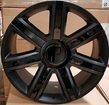 24 Wheels Platinum Style Rims Black insert Fit Cadillac Escalade EXT ESV GMC