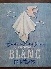 """CATALOGUE MODE 1922 """" AU PRINTEMPS"""" 71 ème EXPOSITION DE BLANC"""