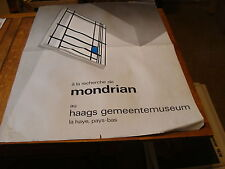 """Vintage Art Poster: MONDRIAAN 1972 huge 33 x 46"""" haags gemeentemuseum POSTER"""