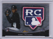 2010 Finest Rookie Logo Patch #146 Esmil Rogers RC Logo 04/50