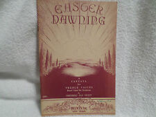1945 SONG BOOK EASTER DAWNING CANTANA FOR TREBLE VOICES FREDERIC FAY SWIFT