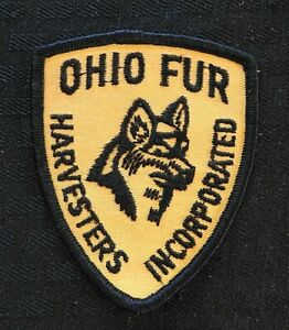 """c.1973 """"OHIO FUR HARVESTERS INC"""" OHIO STATE TRAPPERS ASSOCIATION 3"""" PATCH RADNOR"""