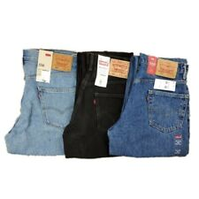 NWT Levi's Men's 550 Classic Stonewash All Cotton Relaxed Fit Tapered Leg Jeans