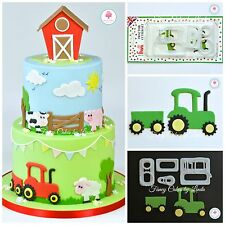 FMM Tractor Cutter Set (4 Pieces) FREE 1st Class 1 Day Dispatch Cake Decorating