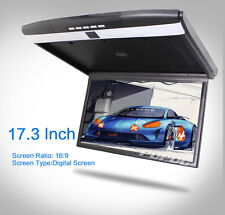 "17.3"" Flip Down Roof Mounted Overhead In-car Monitor FM HDMI 1080P HD MP4 Player"