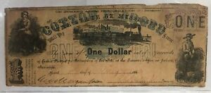 1862 $1 One Dollar Jackson Note Very Good Condition
