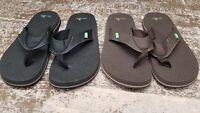 Sanuk Men's Beer Cozy Flip Flop - Brown - Choose Size/Color