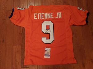 Travis Etienne Signed Clemson Custom Jersey XL JSA