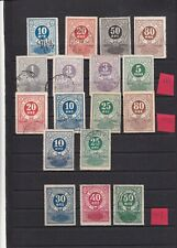 0190 Denmark ( train stamps) 1883/1917 Randers nice lot of stamps see scan
