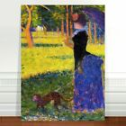 Georges Seurat Woman and Monkey ~ FINE ART CANVAS PRINT 24x18""