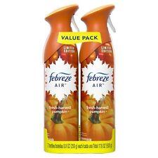 Febreze Odor-Eliminating Air Fresher Spray, Pumpkin, 2 ct
