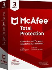 McAfee Total Protection 2020 1 Year 3 Devices Antivirus Key Install New / Renew
