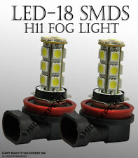x2 LED H11 18 SMD Hyper Super White Fit Fog Light Replace Halogen Bulbs X886