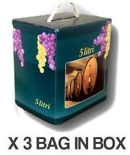 Vino Bianco Dry Bag in Box lt.5 (3 pz) - Vini Sfusi Sardegna -