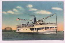 1949 Mn Postcard Duluth Minnesota S.S. Wayne Superior Harbor ship Curt Teich