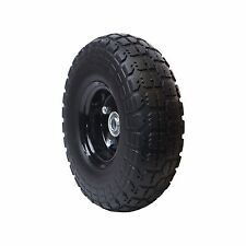 10 Inch No Flat Tire Garden Airless Farm And Ranch Cart Wheel Replacement Black