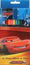 DISNEY - LIQUIDATION - Lot de 12 crayons de couleur Cars - Neuf