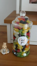VICTORIAN THANK YOU GIFT SWEET JARS FILLED WITH TRADITIONAL RETRO SWEETS