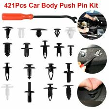 421Pcs Universal Car Body Push Pin Rivet Trim Panel Fastener Clip Mould +Tools