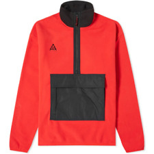 Nike NRG ACG Polar HZ Anorak Mens Hoodie Red Size S Sportswear Casual Pullover