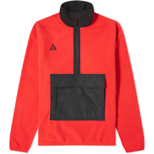 Nike NRG ACG Polar HZ Anorak Mens Hoodie Red Size M Sportswear Pullover Top