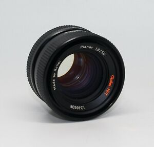Rollei-HFT Planar (Carl Zeiss) 1.8 50mm lens with caps - Prime Lens with QBM VGC